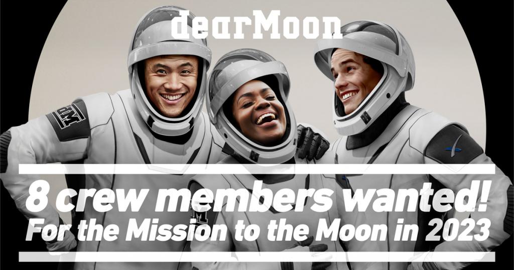 dear moon viaggia sulla luna a bordo dello spacex