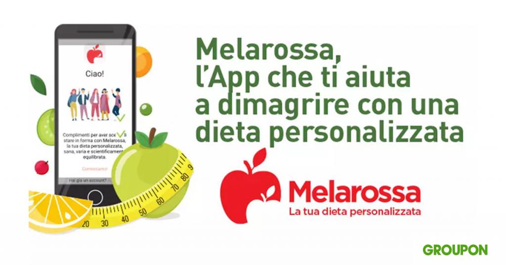 app melarossa dieta sconto groupon