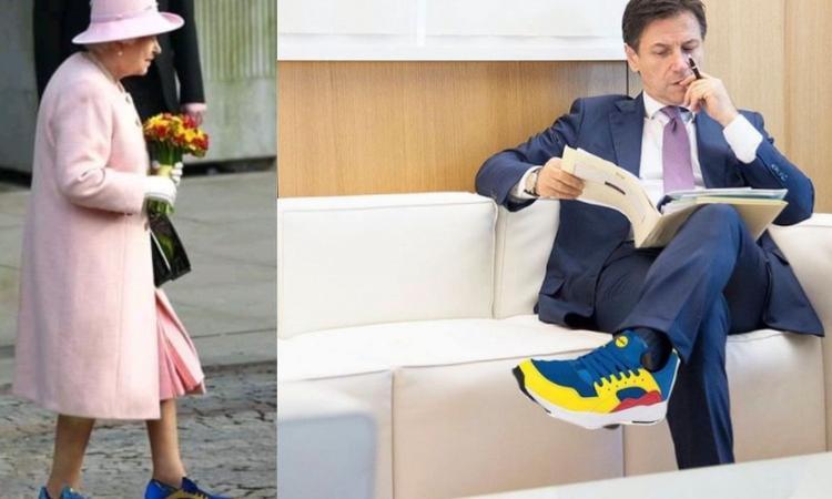 meme scarpe lidl conte regina elisabetta