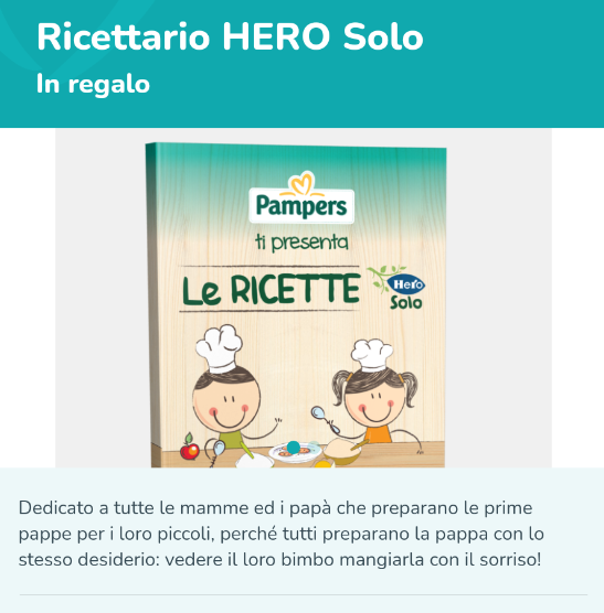 ricettario hero solo gratis pampers