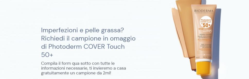 campione omaggio bioderma photoderm cover touch 50+